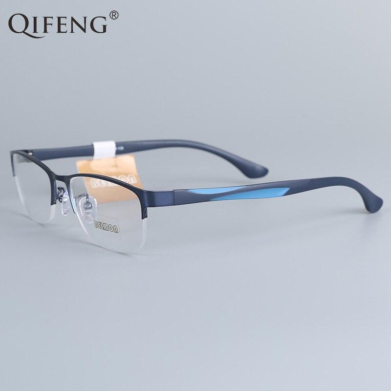 100% Wahr Qifeng Spektakel Rahmen Brillen Männer Computer Optische Verordnung Eye Brille Rahmen Für Männliche Transparent Klar Objektiv Qf12001
