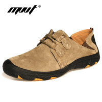 MVVT Comfort Genuine Leather Casual Shoes Men Loafers Suede Men Winter Shoes Breathable Outdoor Training Shoes