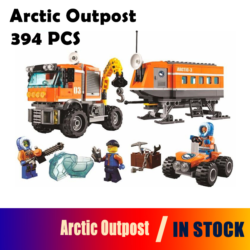 Model building kits BELA 10440 City Arctic Outpost Policemen compatible with lego city 60035 3D blocks Educational toys hobbies