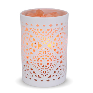natural himalayan Crystal salt lamp Light Mood Creator led Air Purifier Creator Indoor lava decor table light bedside