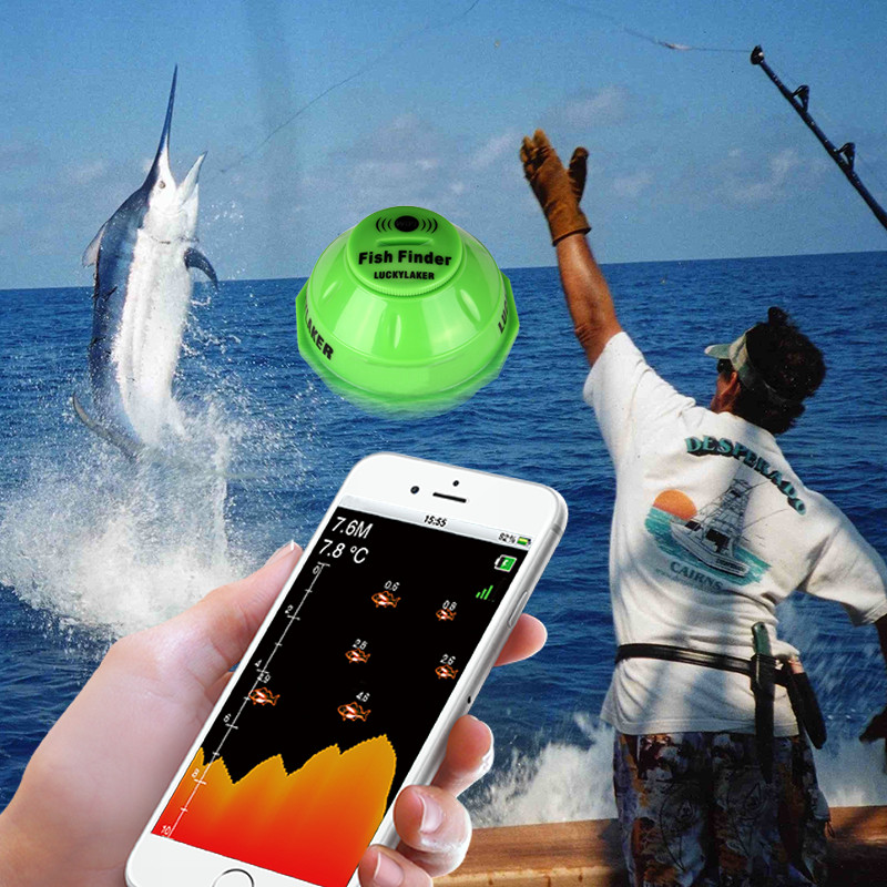 Lucky WiFi Sonar Fish Finder FF916 Wireless Deeper Echo Sounder 50M/164ft Sea Alarm Depth for Iphone Android Sonar Fish Finder|Fish Finders| |  - title=