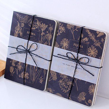 MOSRS Flora Series Printing Gold Naked Outfit Notebook Blank Paper Sketchbook A5 Notebook Diary Notepad 1PCS