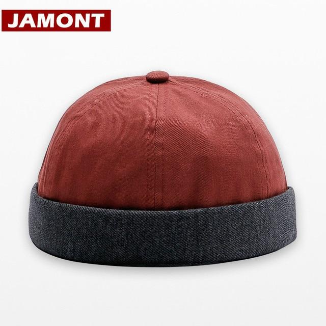 [JAMONT] New Casual Primavera Outono Gorros Chapéus Solidéu Chapéu Homens Mulheres Cap Hip Portátil Moda Sailor Hat Casquette