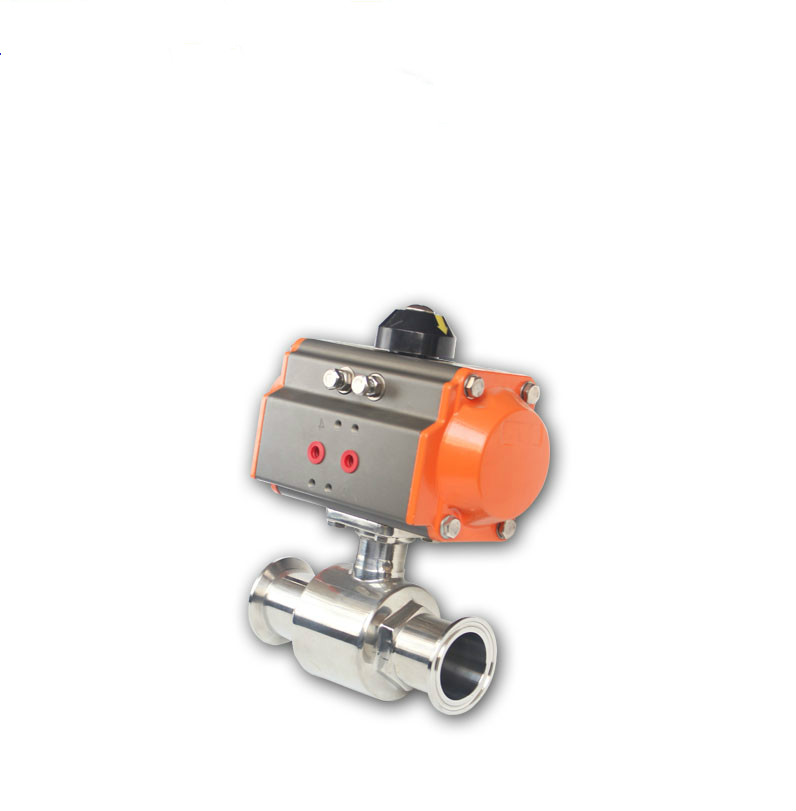 DN15 DN20 Sanitary Stainless 304   Pneumatic Ball Valve 1 dn20 sanitary stainless steel ball valve 3 way 316 quick installed food grade manual clamp ball valve handle t port valve