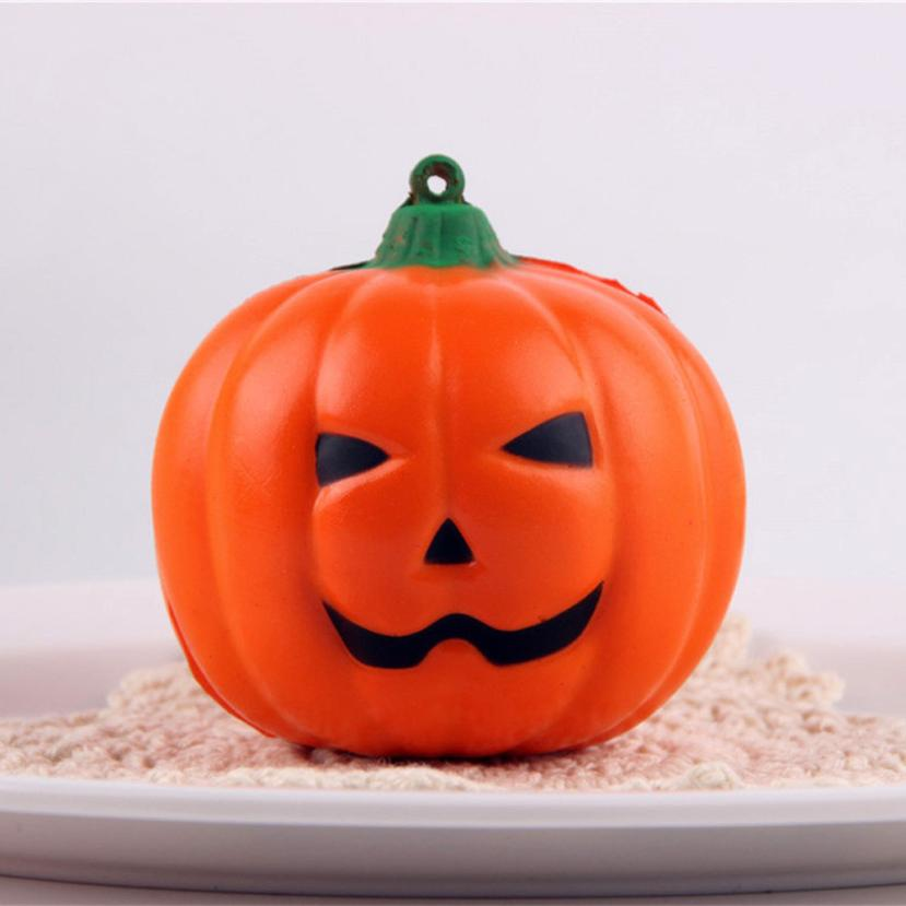 2018 New Halloween Soft Pumpkin Cartoon Squishy Toys Slow Rising Squeeze Toy Phone Straps Antistress Toys For Kids Kid Children fun autism toys hamster squishy decor slow rising kid toy squeeze relieve anxiet gift toys for children pu simulation hamster