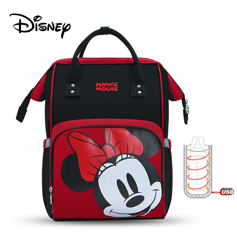 Disney 2019 Mom Backpack Women Multi-Function Nappy Baby USB Bottle Insulation Maternity Bag Mickey Mouse Mommy Bag Diaper Bag
