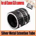 Prata Metal Monte Foco Automático AF Macro Extension Tube/Anel para Kenko para Canon Lente EF-S T5i T4i T3i T2i 550D 600D 60D 70D 100D