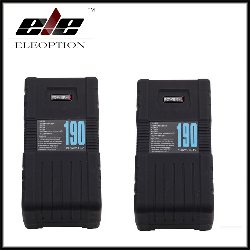 2x Eleoption BP-190S POWER-U 190Wh V-Mount Li-ion Battery For SONY RED ONE ALEXA high quality bp 130s 130wh power u 14 8v 130w v mount li ion battery for sony 600p 650p