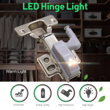 Goodland LED Under Cabinet Light Universal Wardrobe Light Sensor Led Armario Inner Hinge Lamp For Cupboard Closet Kitchen @1(China)