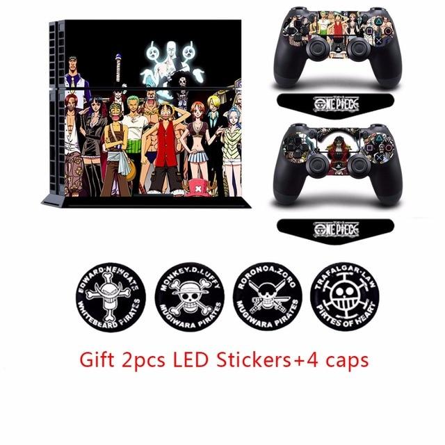 One Piece PS4 Playstation 4 Console Vinyl Anti-slip Skin