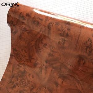 Image 3 - 高光沢のある木目車インテリアdiyビニールステッカーフィルムサイズ 10/20/30/40/50CMX152CM