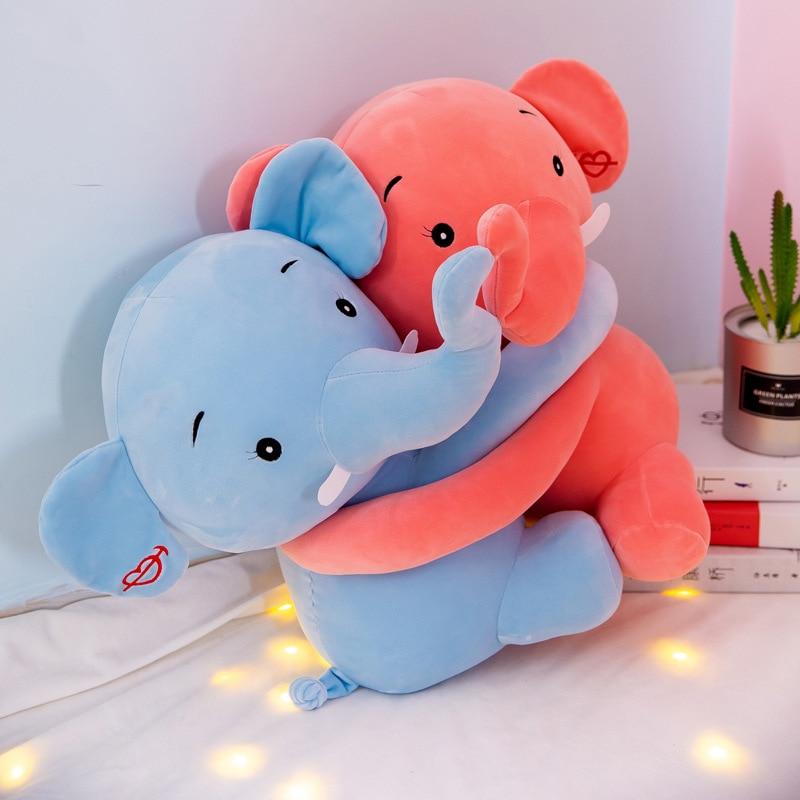 New Creative Hug Couple Elephant Plush Toys Stuffed Animal Soft Plush Doll Toy Children Toys Valentine 39 s Day Gift in Stuffed amp Plush Animals from Toys amp Hobbies