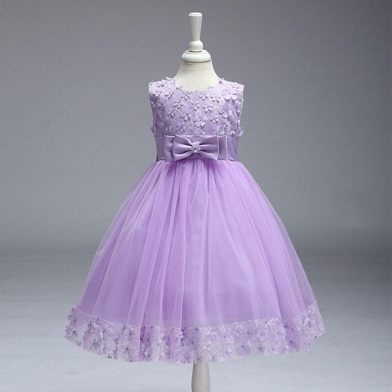 New Flower Girl Dresses Pink Real Party Pageant Communion Dress Little Girls Kids Children Dress For Wedding