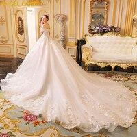 Luxury Marriage Dress Robe De Mariee Long Tail Sweetheart Empire Dream Romantic Shiny Wedding Dress Wedding Gowns Brautkleid