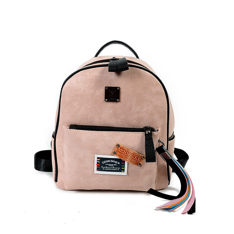 Small Backpacks PU Leather Fashion Ladies Funny Tassels Backpack Back Pack Girls School packs Trendy Women Bags 978