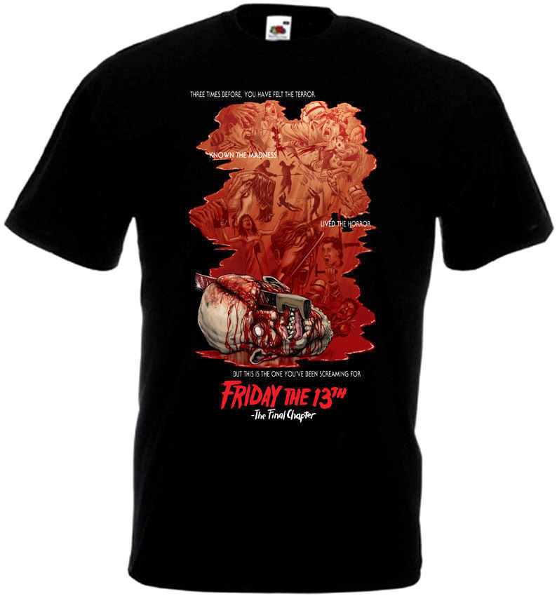 Friday The 13th V15 T Shirt Black Movie Poster All Sizes S-3XL Men T-Shirt Great Quality Funny Man Cotton Top Tee Plus Size