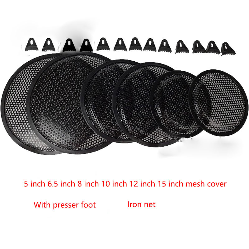 2pcs/lot Large hole speaker net cover subwoofer car horn protection cover connector 5 inch / 6/8/10/12/15 inch|Connectors| |  - title=