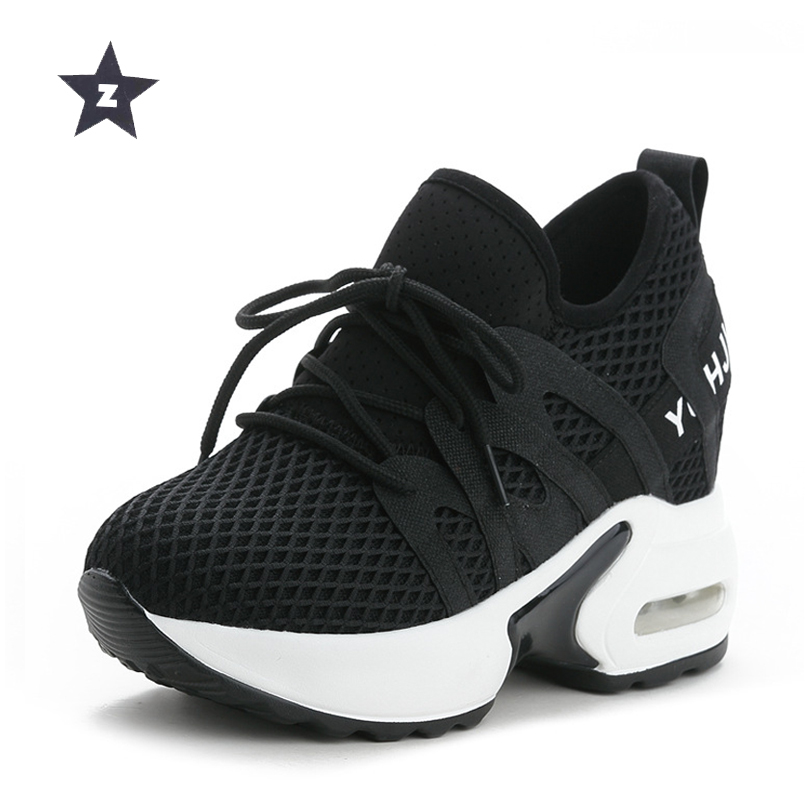 Z sport shoes woman breathable white wedges trend shoes fashion high heels casual sneaker shoes women small size 33 40-in Women's Pumps from Shoes    1