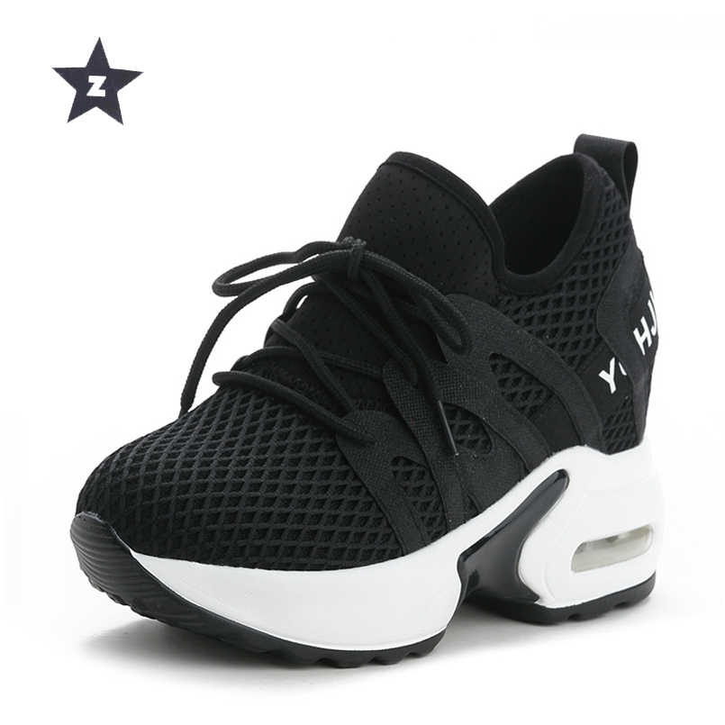 9aa85fffdb Z sport shoes woman breathable white wedges trend shoes fashion high heels  casual sneaker shoes women