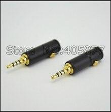 2pcs 4 poli Maschio di 2.5MM stereo Riparazione della cuffia Spina Martinetti Metallo Audio di Saldatura