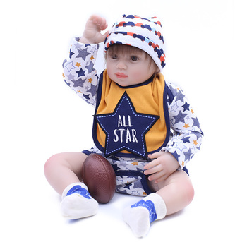 Silicone Reborn Baby Dolls 50cm Real Newborn Boy Babies Alive Doll Cotton Body Child Birthday Gift Toy Bebes Reborn Menino Buy At The Price Of 58 92 In Aliexpress Com Imall Com