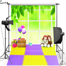 Doll Vinyl Photography Background Backdrop For Kids Balloon Photo New Fabric Flannel Background For Children Photo Studio 2432
