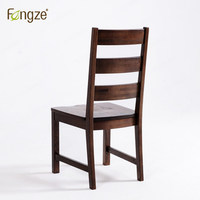 Fengze интерьер fz212 древесины стул твердой Oak Современные Простые страна Стиль кресло для гостиной столовой деревянный стул