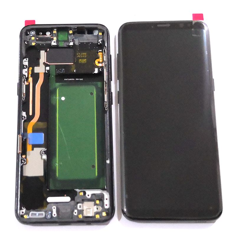 Amoled For <font><b>Samsung</b></font> <font><b>Galaxy</b></font> <font><b>S8</b></font> <font><b>G950</b></font> G950F G950u LCD Display Screen With Touch Glass Digitizer Frame Assembly For <font><b>S8</b></font> burn shadow image
