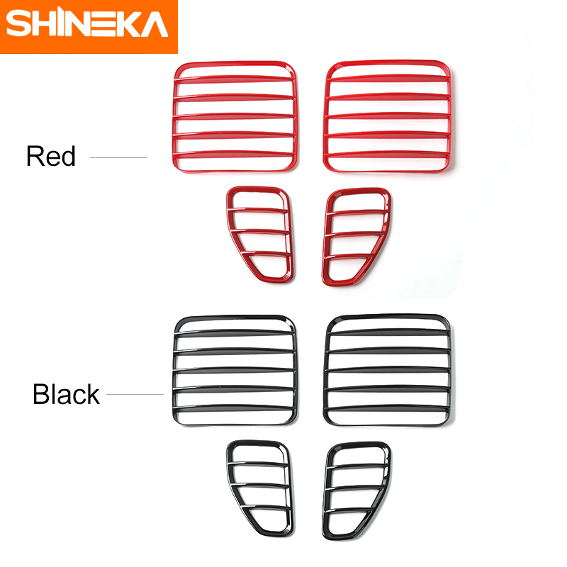 SHINEKA Car Styling ABS Rear Light Cover Lamp Decorative Guard for Jeep Renegade 2016 front grille led emblem logo light 4 colors abs decorative grill lamp for f ord r anger t7 2016 2017 car styling