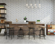 beibehang pvc latest retro personality nostalgia three-dimensional brick wallpaper cafes bars restaurants background wall paper