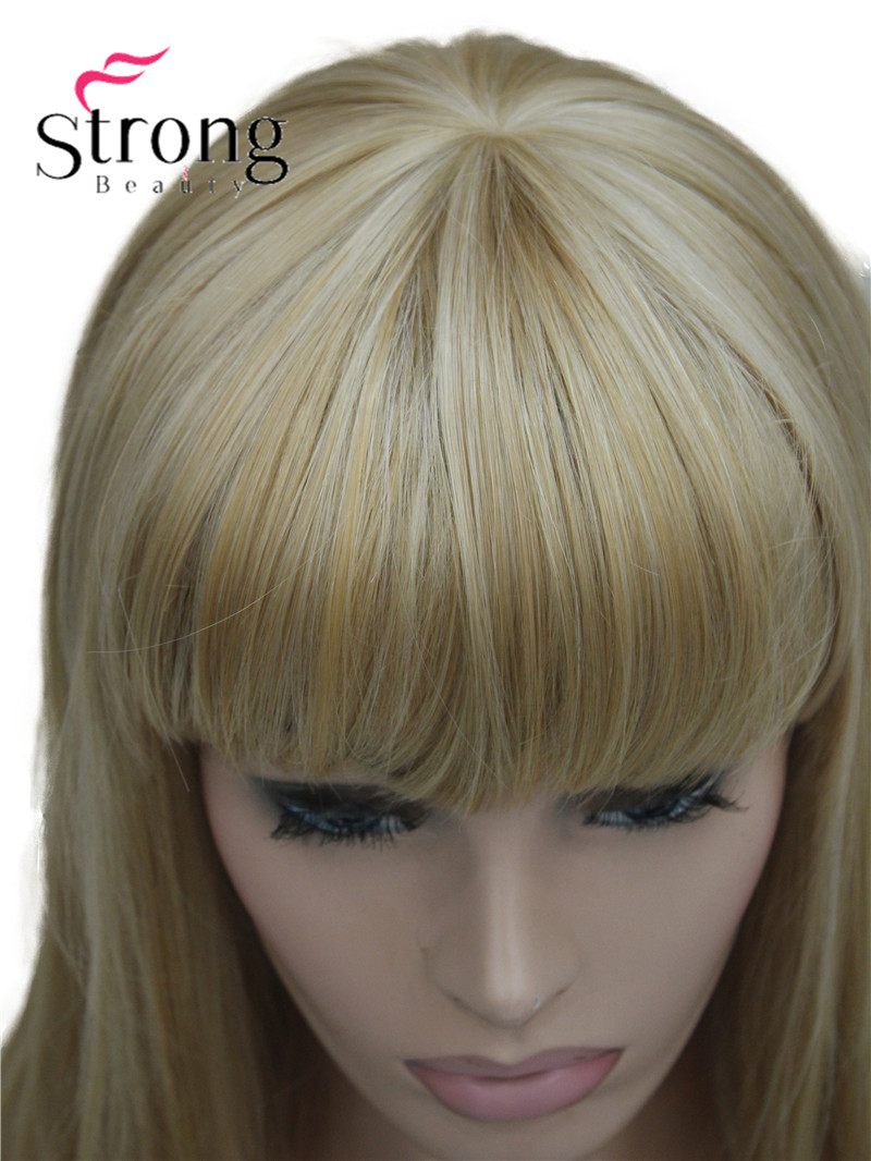 Image 4 - StrongBeauty Long Straight Ash Blonde with Light Blonde Highlights Synthetic Wig Womens Hair wigsSynthetic None-Lace  Wigs   -