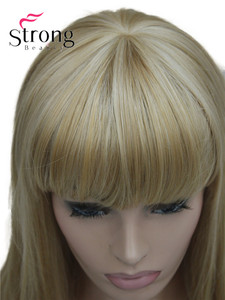 Image 4 - StrongBeauty Long Straight Ash Blonde with Light Blonde Highlights Synthetic Wig Womens Hair wigs