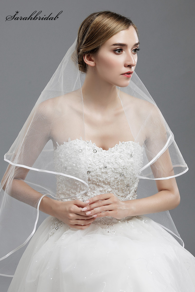 In Stock 1 Layers Tulle Length Wedding Veil for Wedding Dress Bridal Veil Wedding Accessories 11002