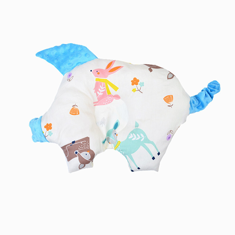 Baby Bedding Sleep Pillow Cotton Velvet Cute Pig Shape Pillow Newborn Kids Chair Car Backrest Cushion Baby Correction Head Shape