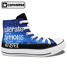 Police Box Galaxy Design Converse All Star Men Women Hand Painted Shoes Athletic Canvas Sneakers High Top Man Woman Unique Gifts