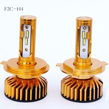 2pcs F2 LED Car H4 1860 48w 6500k headlight Imported chip drive power ultra bright Fan cooling white Light