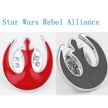 Star Wars Rebel Alliance Silver Lapel Pin Brooch Emblem Badge Enamel Lapel Pin Men Fashion Accessories Star Wars Brooches