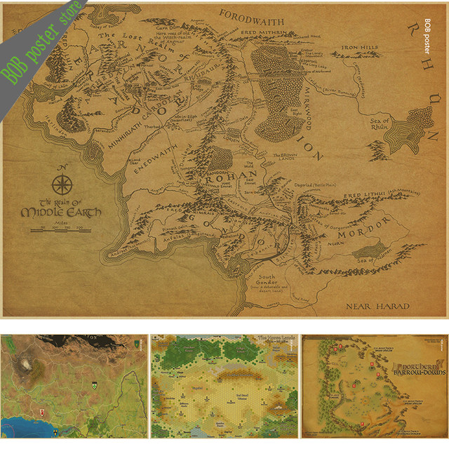 Online Shop Map of the wizarding world of harry potter Movie and ...