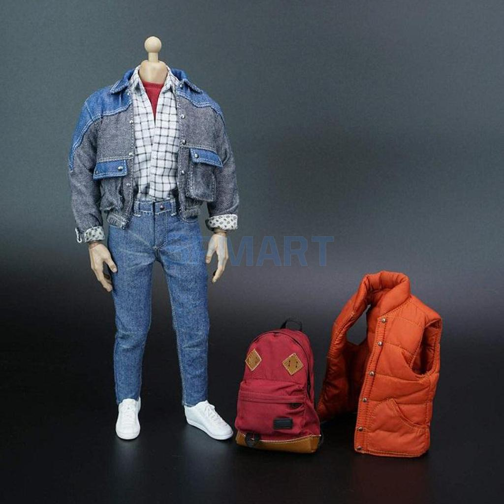 1/6 Scale Action Figure Toy Body Head Sculpt Casual Clothes Suit Full Set Collectible 12'' Action Figure Model Gift