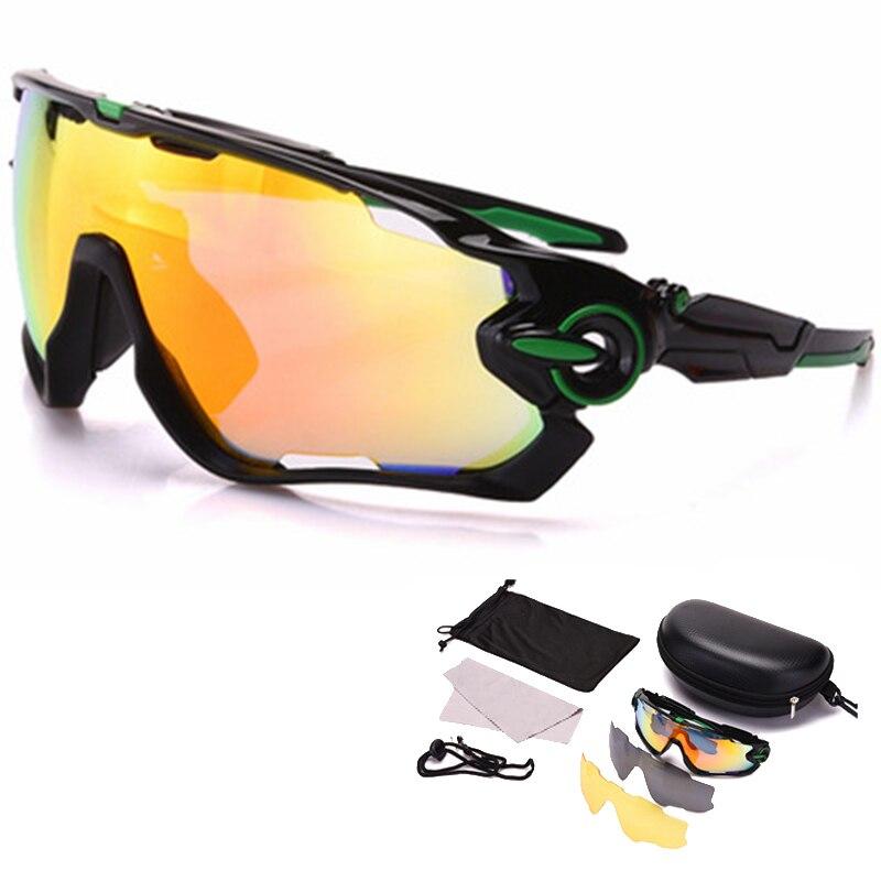 f0f9ee15509 3 Lens Polarized Cycling Glasses Men Outdoor Sport Bike Sunglasses Bicycle  Running Fishing MTB Road Bike