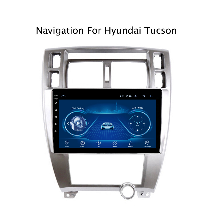 Super Slim Touch Screen Android 8.1 radio GPS Navigation for HYUNDAI Tucson 2007 AT tablets Stereo Wifi Multimedia USB Bluetooth