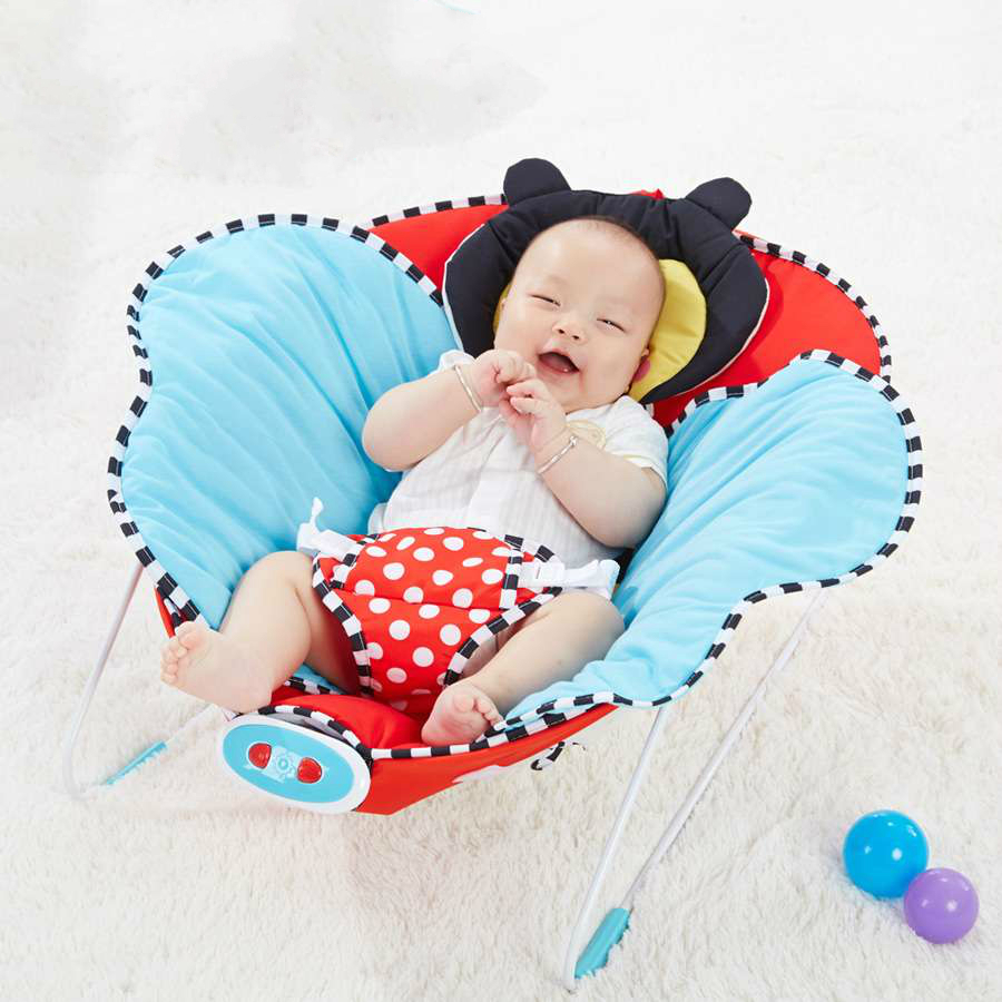 Free shipping electric baby swing rocking chair placate for Baby chaise lounge