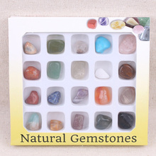 20pcs Natural Crystal Rock Mineral Specimen Kit Geology Science Teaching Aids