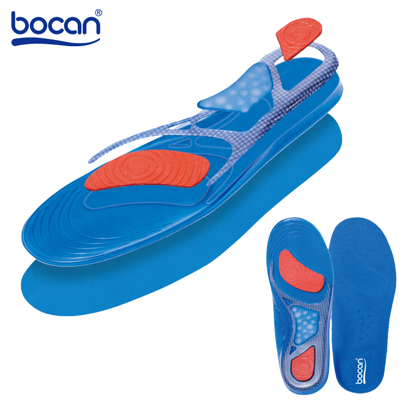 BOCAN Gel insoles 1 pair Comfortable Shoe Insoles shock absorption insole for men and women 6625 bocan insoles for sport shock absorption orthopedic shoe insoles light weight breathable for men women