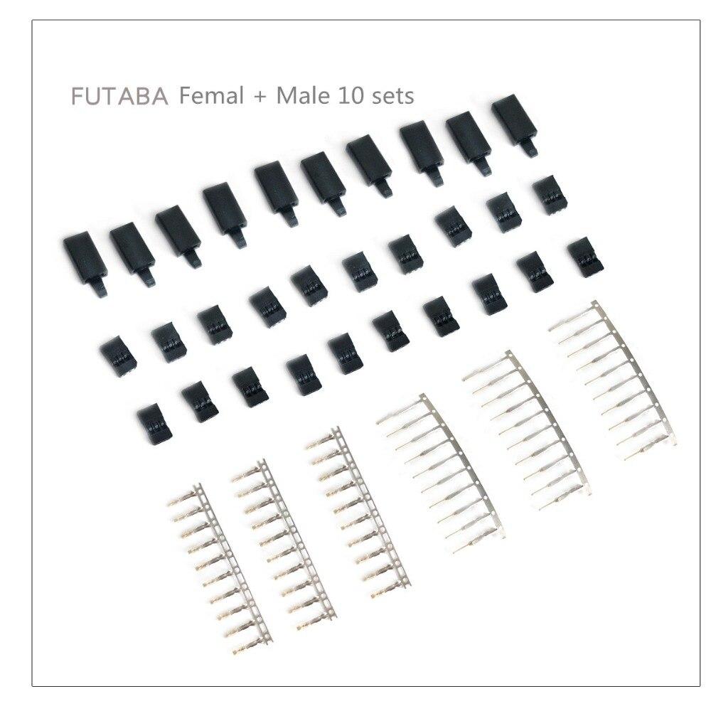 10 ensembles bricolage 3 broches Servo prise ensemble femelle mâle connecteur plaqué or pour Futaba JR Type RC avion Multirotor quadrirotor prise