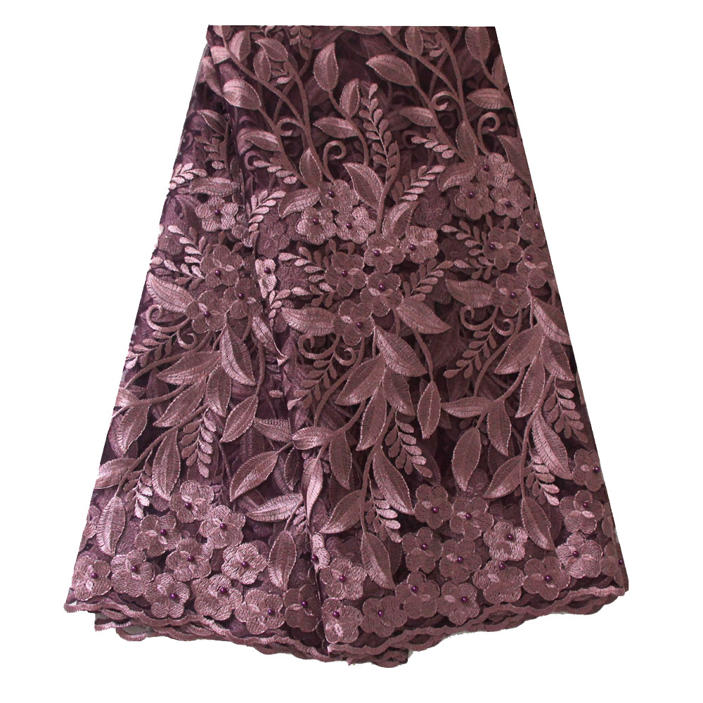Lilac lace fabric