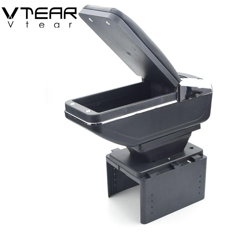 Vtear For dacia renault fluence armrest box central Store content box products interior Armrest Storage car