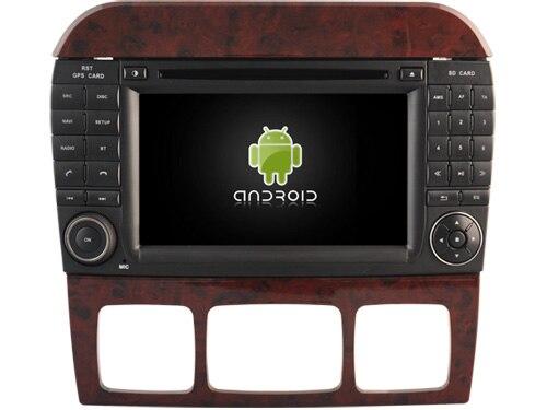 Android 8.0 núcleo octa 4 GB de RAM dvd do carro para MERCEDES-BENZ S unidades de cabeça de rádio gravador de fita CLASSE W220 ips tela sensível ao toque com gps