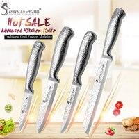 SOWOLL Brand Stainless Steel Blade Kitchen Knive 4 Pcs Set 3.5 5 7 8 Stainless Steel Knife High Grade Kitchen Accessories