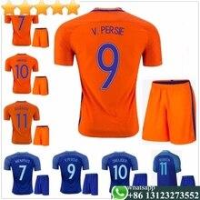 047dba4a1 2016 Netherlands soccer jersey kits ROBBEN Home Orange Away blue KLAASSEN  SNEIJDER V.PERSIE 16